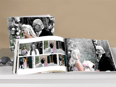 For the whole family: a wedding photo book with the most beautiful photos of the day belongs on every book shelf.