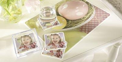 Foto-Tischset als Tischdeko zu Ostern