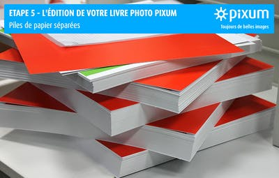 Production d'un Livre photo Pixum : Séparer les pages