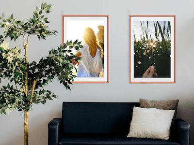 Gib großen Wandbildern genügend Raum, damit diese ihre Wirkung entfalten können.