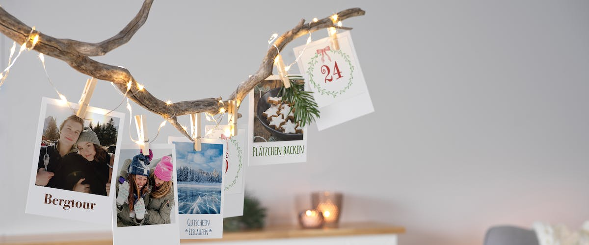 Adventskalender im Retro-Stil