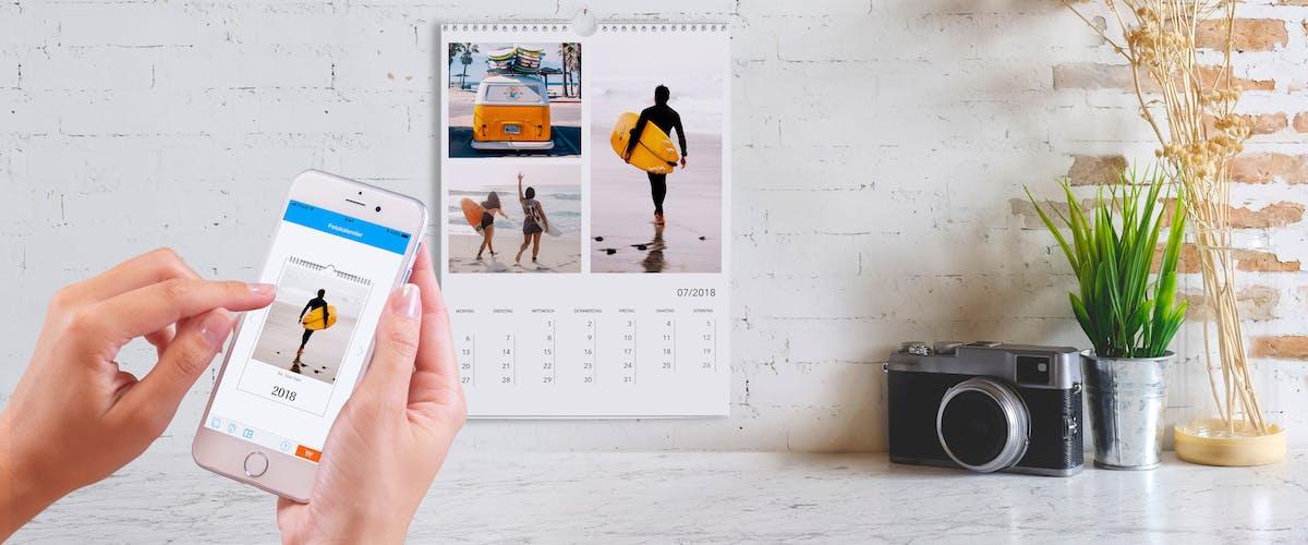 Fotokalender-Gestaltung im Online-Designer