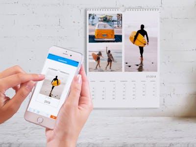 Gestaltung eines Fotokalenders per App.