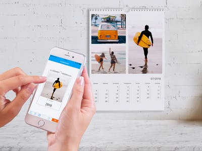 Fotokalenderbestellung per App.