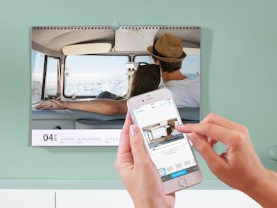 Calendario con fotos desde la app