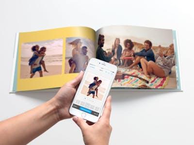 Das Pixum Fotobuch im Querformat, einfach bestellt mit der Pixum Fotowelt App.