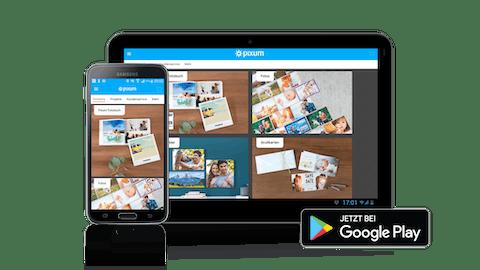 Die Pixum Fotowelt App für Android