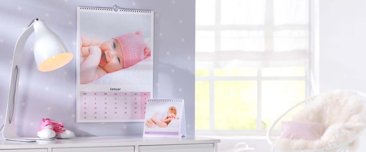 Fotokalender met babyfoto's ontwerpen