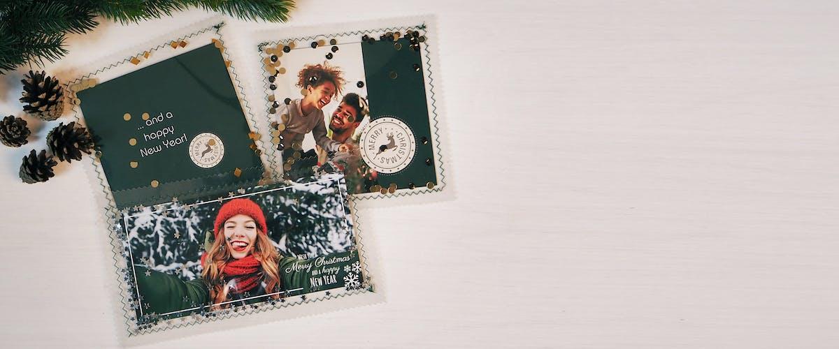 Tarjetas de Navidad personalizadas DIY