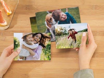 Mix der verschiedenen Fotoabzug-Varianten von Pixum.