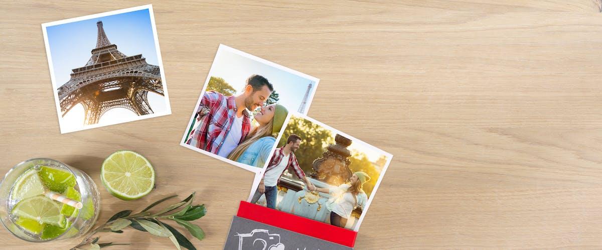Boite de cartes photo carrées