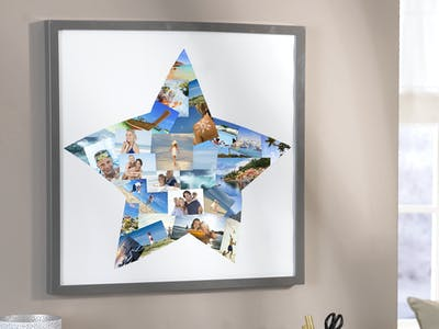 Sterncollage mit Fotoabzügen