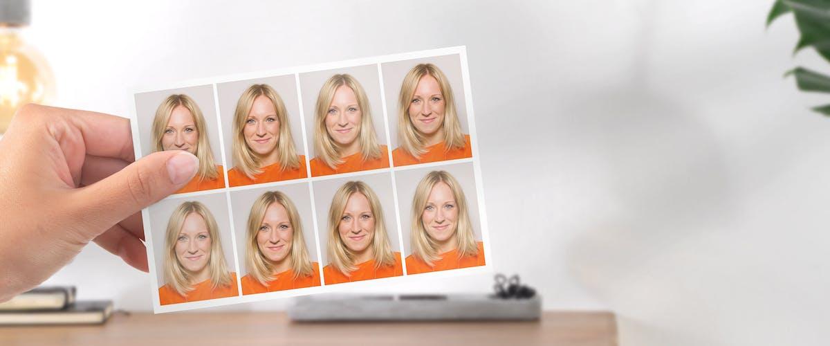 Pasfoto's bestellen met jouw foto's