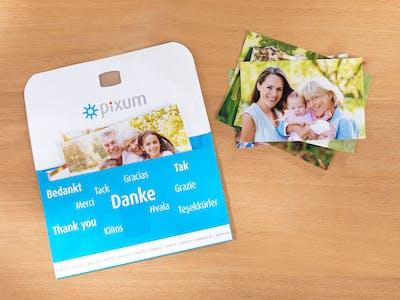 Hochwertige glänzende Fotoabzüge sind Pixum-Standard.