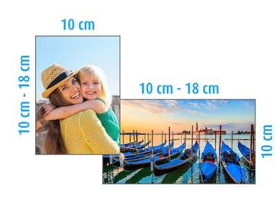 Flexibele formaten: de lengte van je fotoafdruk is afhankelijk van het formaat van de foto die je afdrukt