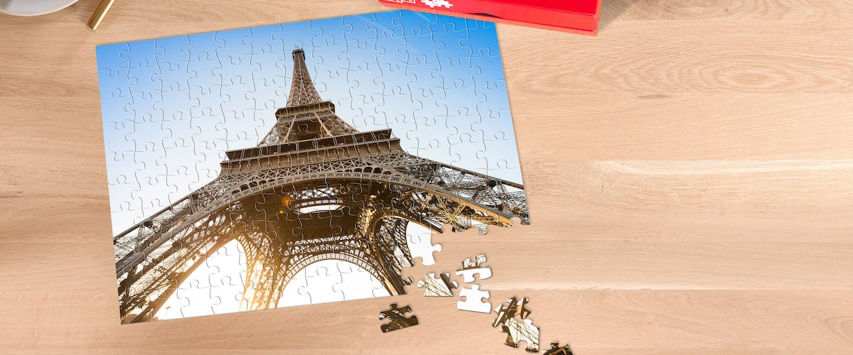 Photo jigsaw as a voucher