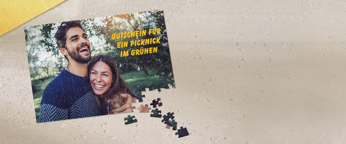Puzzle als Gutschein