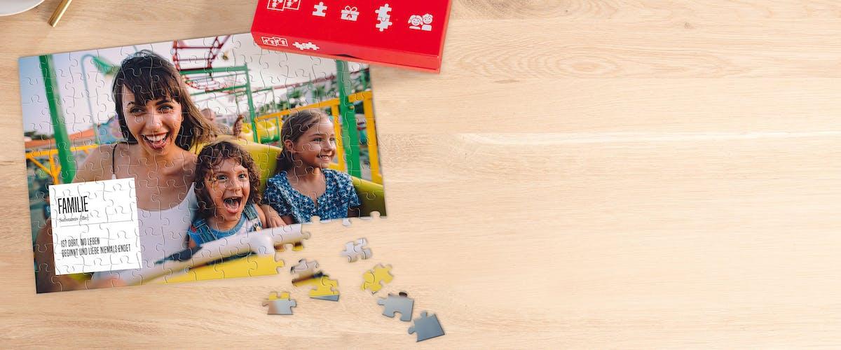 Kinderpuzzle mit Foto