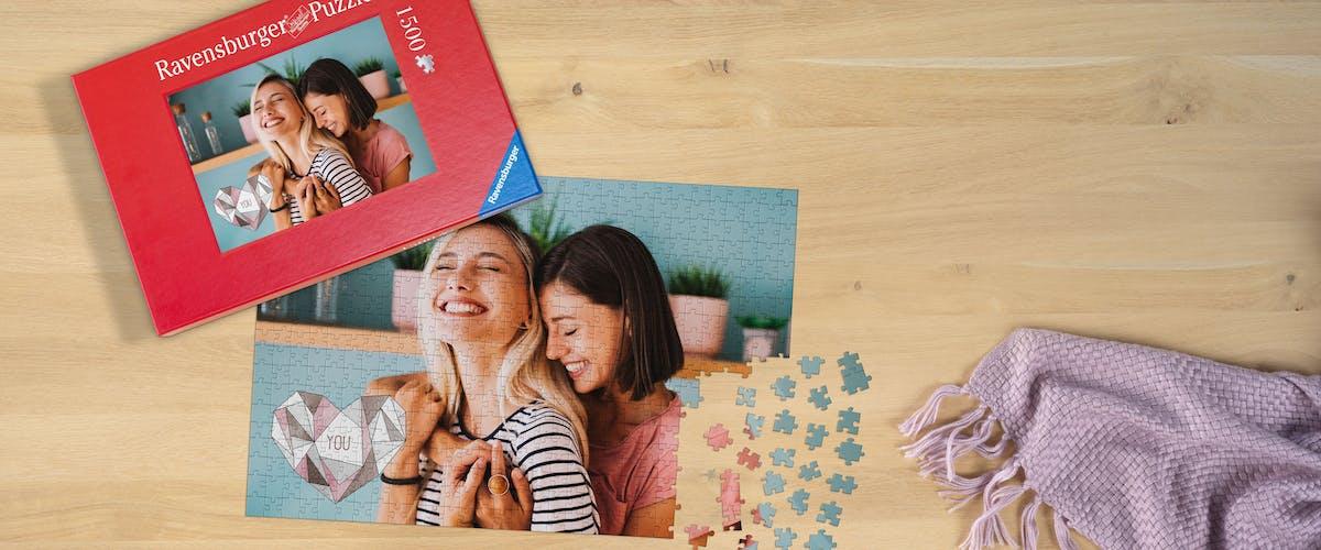 Puzzle-Grußkarten gestalten