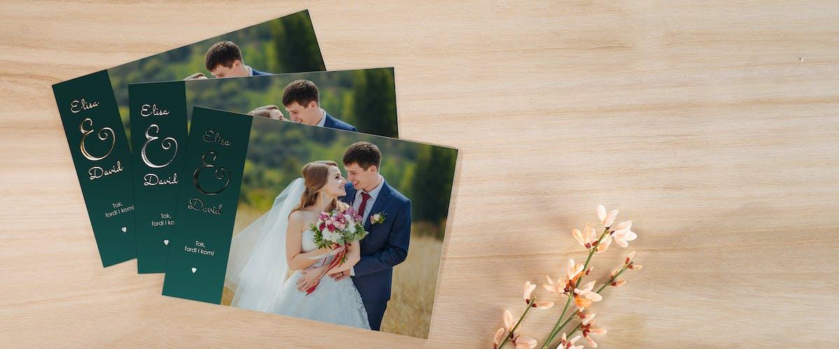 Fortryllende bryllupskort