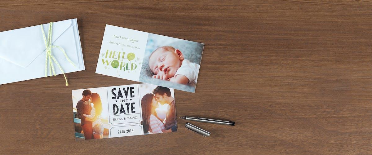 Pers�nliche Save-the-Date-Karten gestalten