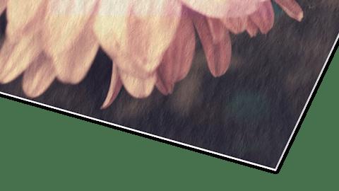 Fotoposter op aquarelpapier