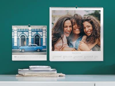 Fotokalender in zwei verschiedenen Formaten