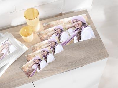 Glänzende Fotoabzüge - in allen Formen und Formaten bei Pixum erhältlich.