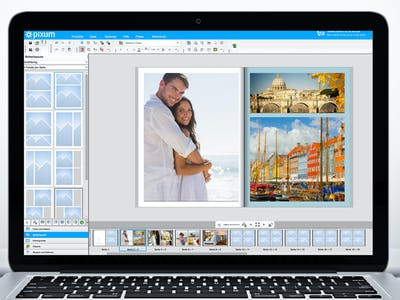 If you have selected a page layout, you can move, rotate or delete individual images or layout frames.