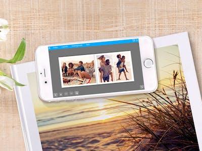Über die Pixum Fotobuch App kannst du deine Fotoabzüge auch jederzeit unterwegs bestellen.