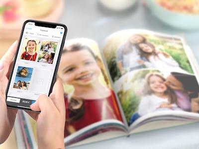 Pixum Fotobuch per App, Software oder online gestalten.
