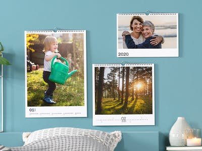 Heading towards a busy year? How about making a wall planner for each family member to arrange the calendars to a beautiful wall gallery?