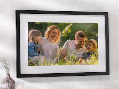 Familienfoto als Wandbild
