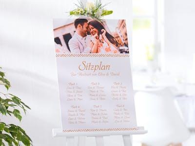 So gestalten Sie die Forexplatte von Pixum als Sitzplan für Ihre Hochzeit