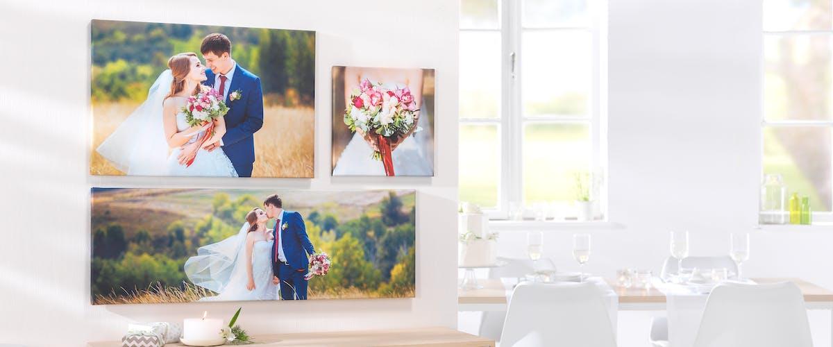 Fotoleinwand für das Hochzeitspaar