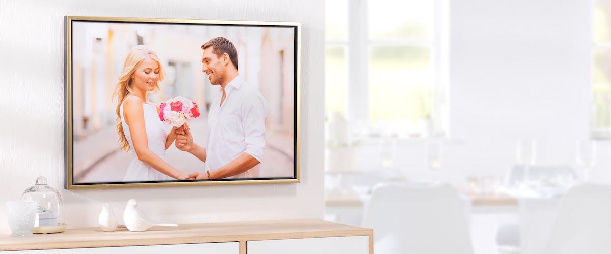 Fotoleinwand mit Rahmen zur Hochzeit