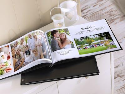 Hochzeitsfotobuch.
