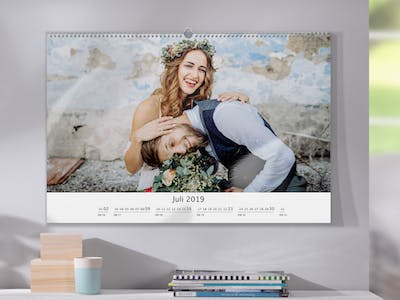 Photo Calendar with wedding photos