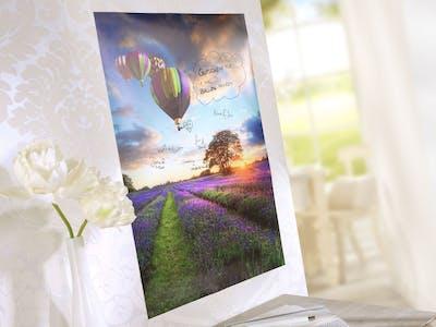 Kreative Ideen einfach umgesetzt - mit dem Poster von Pixum gestaltest du schimmernde Hingucker für dein Zuhause.