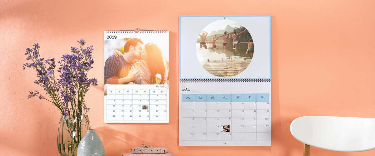 Design templates for the photo calendar