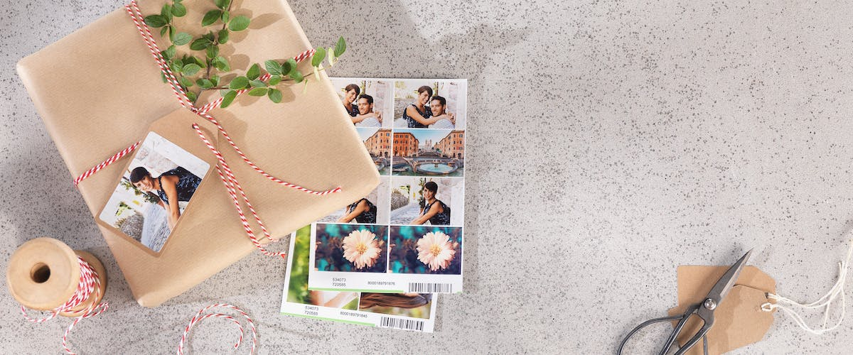 Photo Stickers for Gift Wrapping