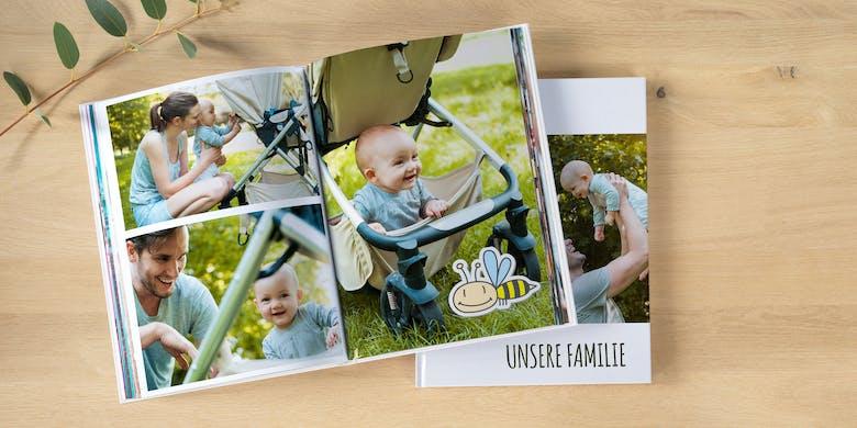 Jetzt Baby-Fotobuch gestalten