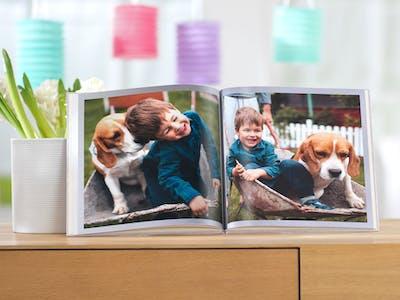 Mit edelmattem Papier und passender Bindung lässt sich im Nu ein Fotobuch als Malbuch kreieren.