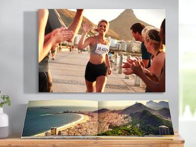 Wandbild mit Foto einer Olympiasiegerin
