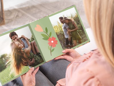 Das Pixum Fotobuch mit sommerlichem Flair.
