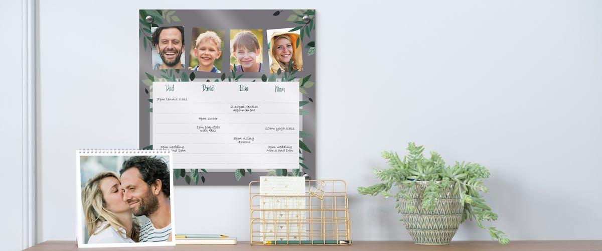 Design templates for the photo calendar