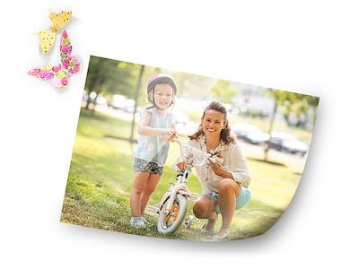 Gestalte zum Muttertag, zu Weihnachten oder zum Einzug ein einzigartiges Fotoposter für deine Lieben.