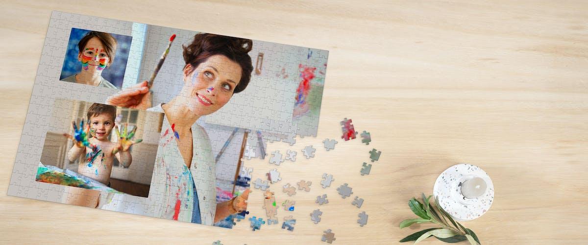 Puzzle personalizado formato collage