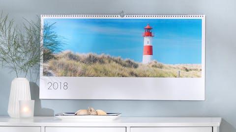 Panoramafoto's in een kalender