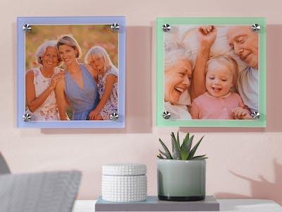 Durch das Hinzufügen eines Randes wirken nebeneinander angeordnete Wandbilder noch harmonischer.